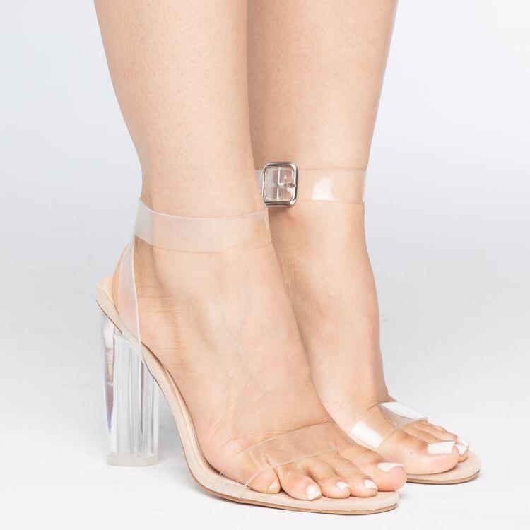 Sandalias Nude de tacón